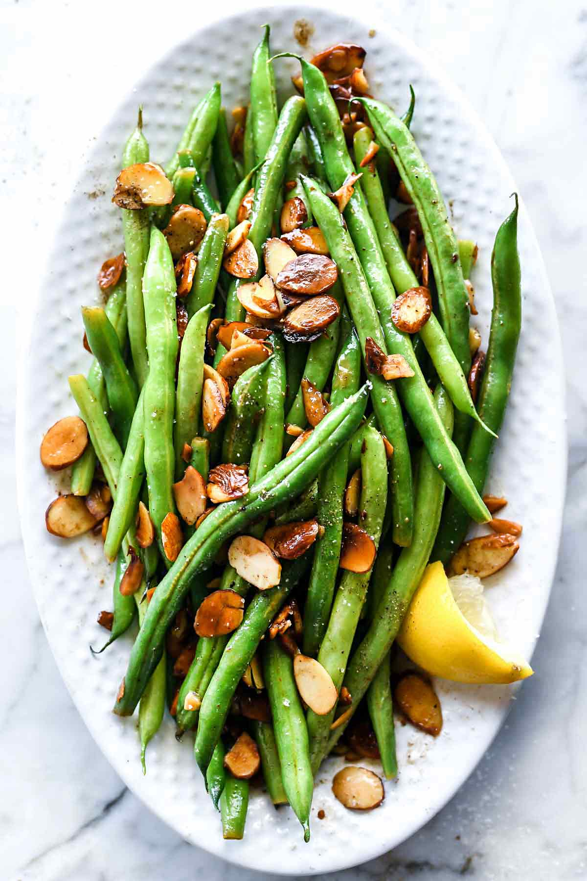 Green Beans With Browned Butter Almondine Foodiecrush Com