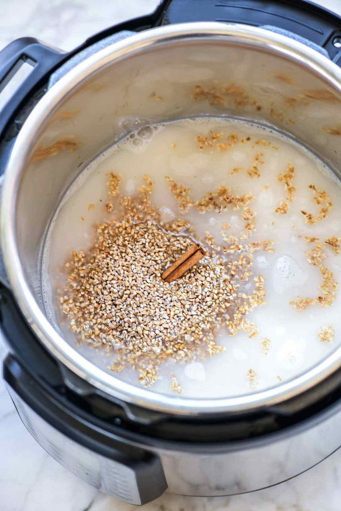 making homemade oatmeal in an instant pot