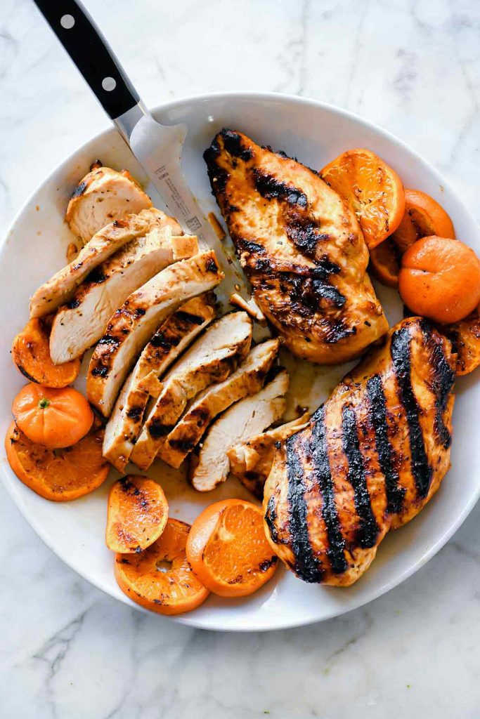 Spicy Grilled Orange Chicken | foodiecrush.com
