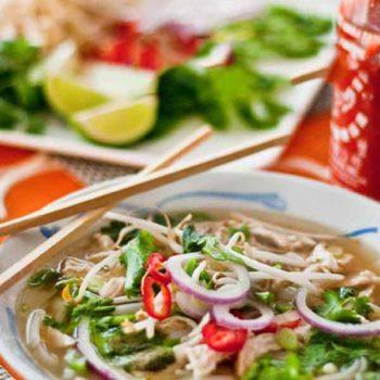 Pho Ga Vietnamese Chicken Noodle Soup | foodiecrush.com