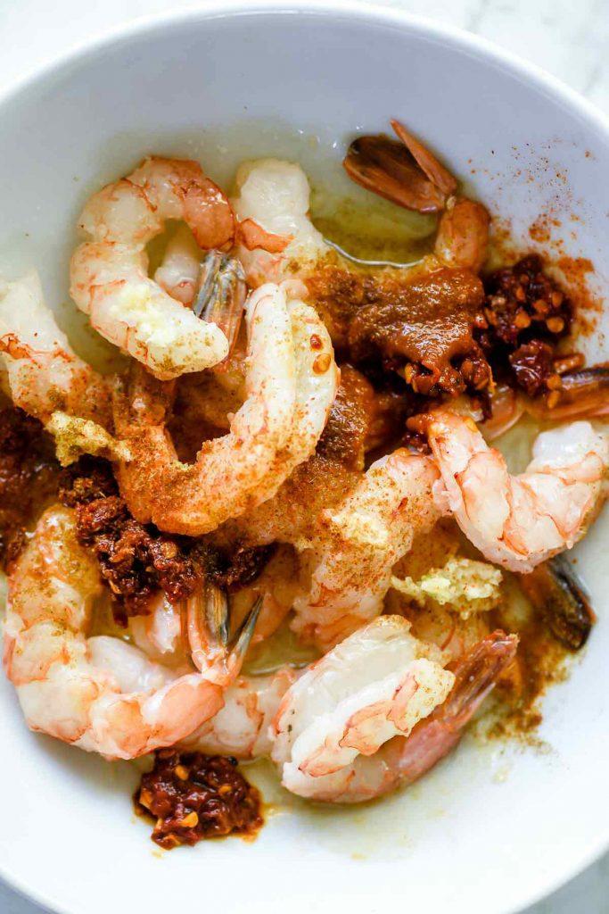 Chipotle Lime Shrimp Bowls | foodiecrush.com #shrimp #ricebowls #healthy #Mexican