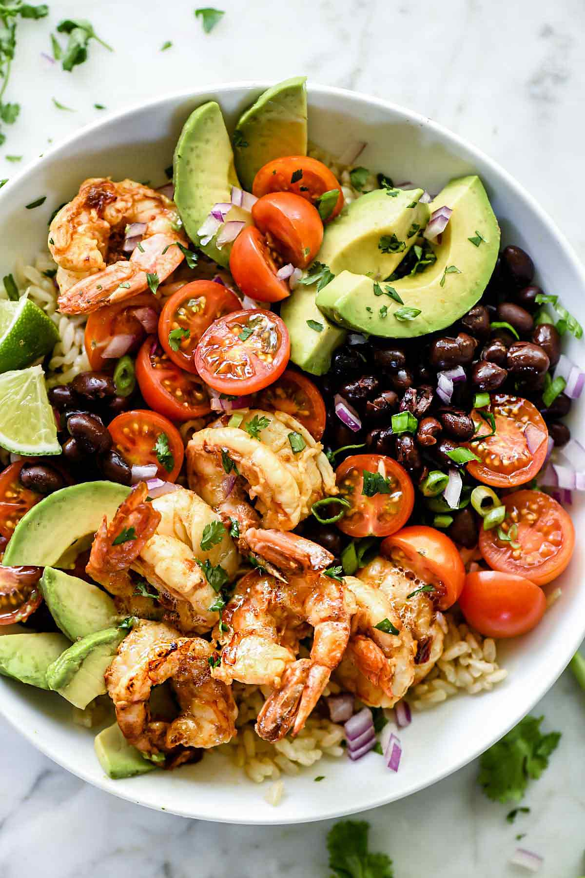 Chipotle Lime Shrimp Bowls Easy Shrimp Recipe Foodiecrush Com