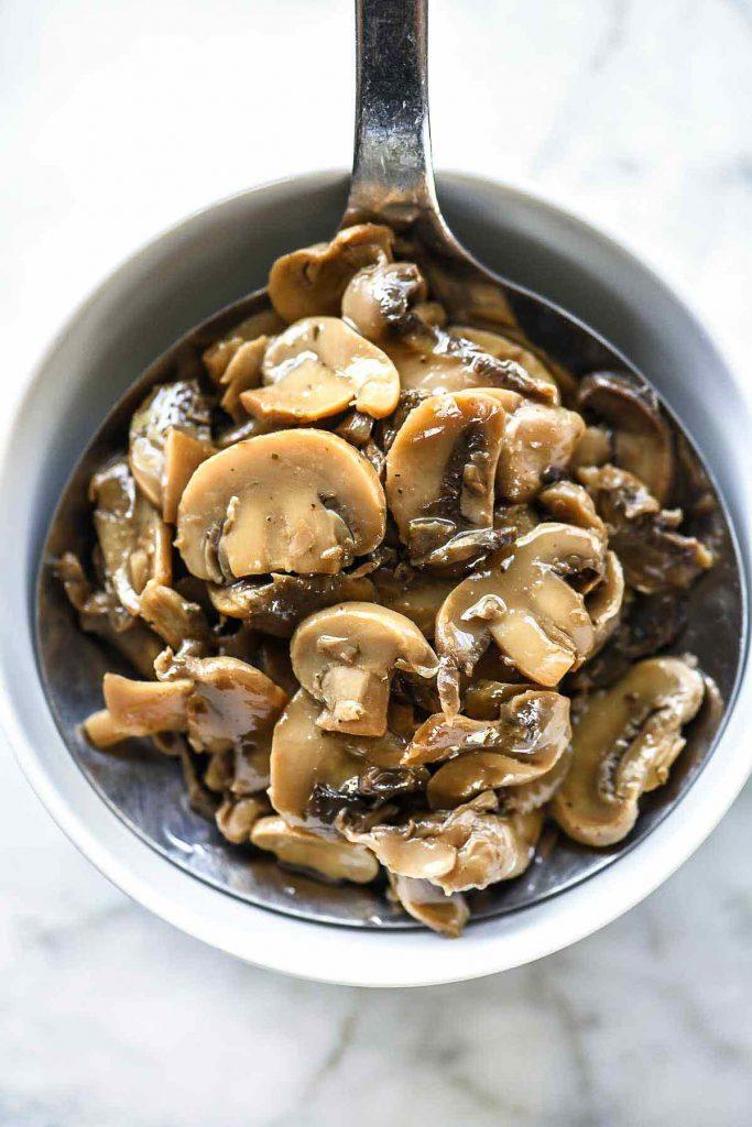 Truffled Mushrooms | foodiecrush.com #truffles #mushrooms
