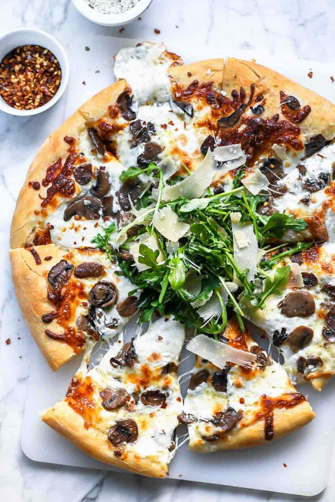 Truffled Mushroom Pizza Recipe Foodiecrush Com