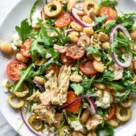 Tuscan Tuna and White Bean Salad | foodiecrush.com #salad #healthy #recipes #tuna #tuscan