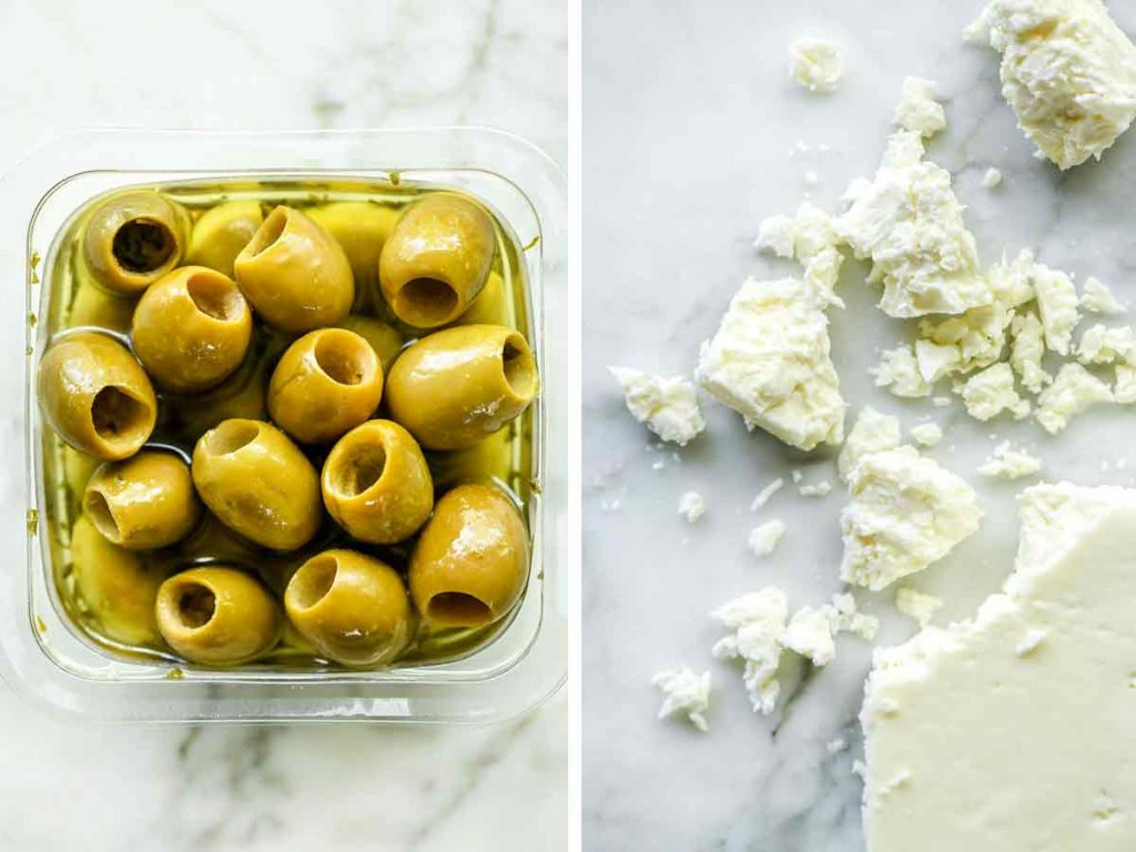 olives and feta cheese | foodiecrush.com #feta #olives