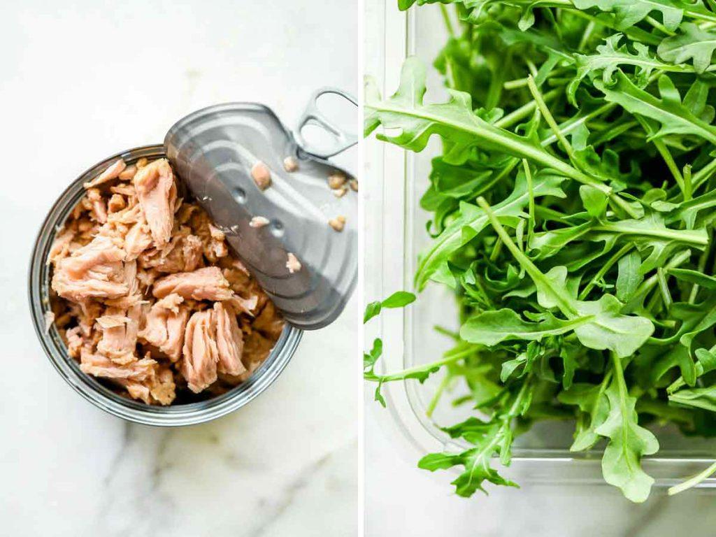 tuna and argula | foodiecrush.com #arugula #tuna