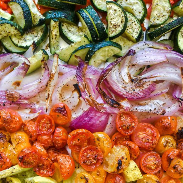 Rainbow of Grilled Vegetables | foodiecrush.com