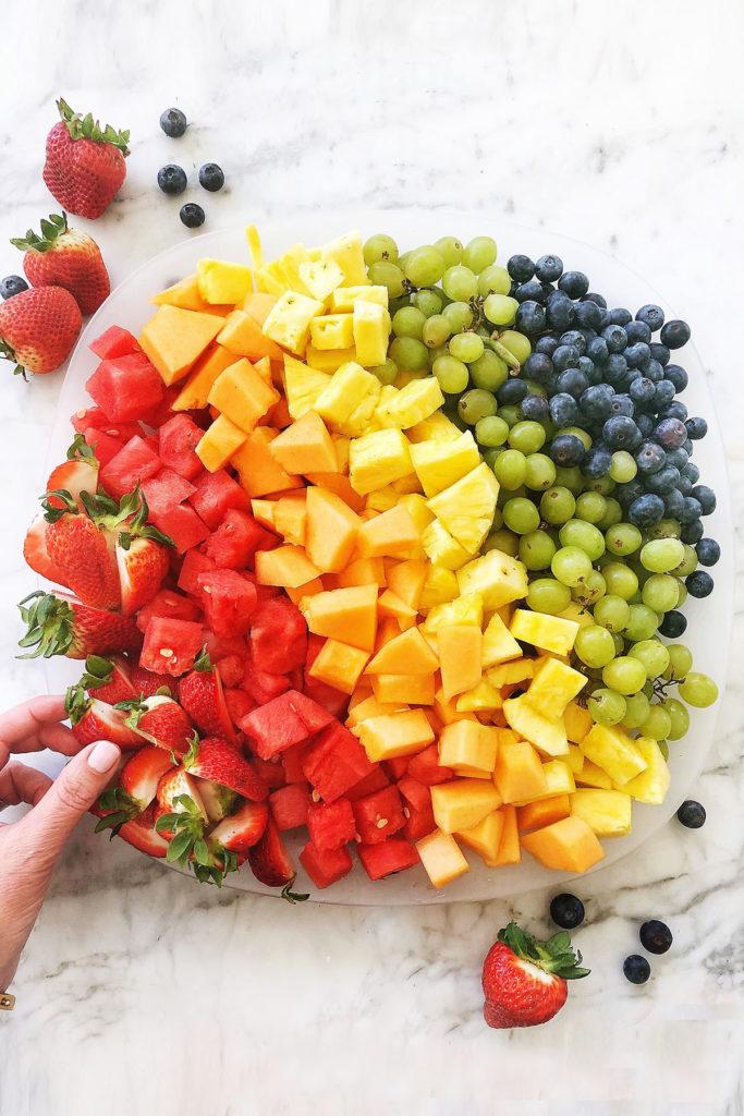 Rainbow Fruit Platter foodiecrush.com