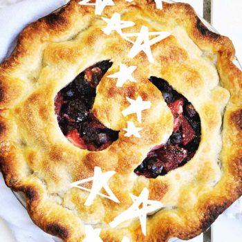 Four Berry Pie foodiecrush.com