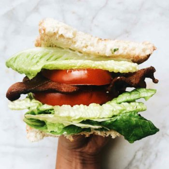 BLT Sandwich foodiecrush.com