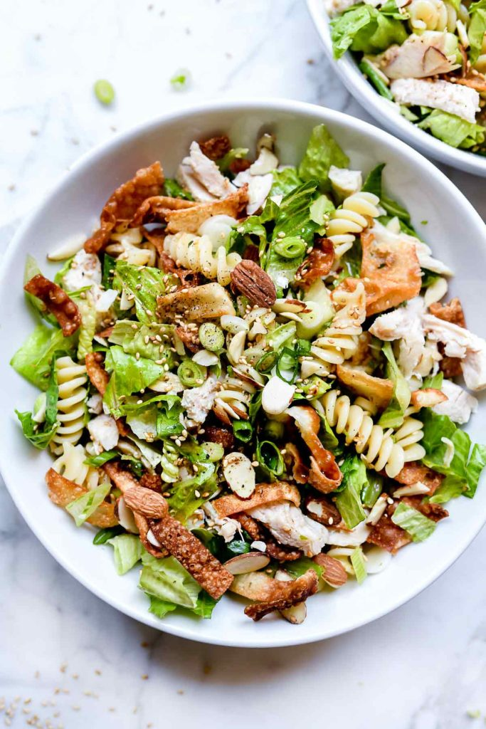 Chinese Chicken Salad with Sesame Dressing   foodiecrush.com #chinese #chicken #salad