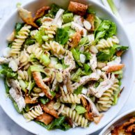 Chinese Chicken Salad with Sesame Dressing | foodiecrush.com #chinese #chicken #salad