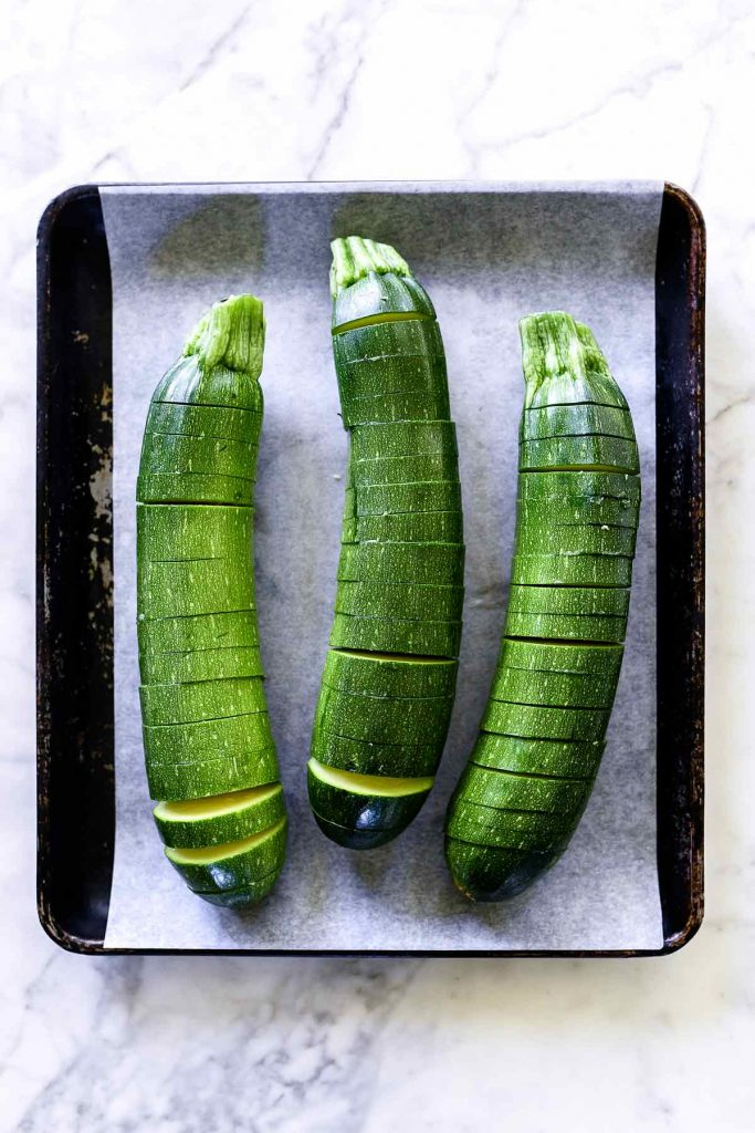 Hasselback Zucchini | foodiecrush.com #zucchini