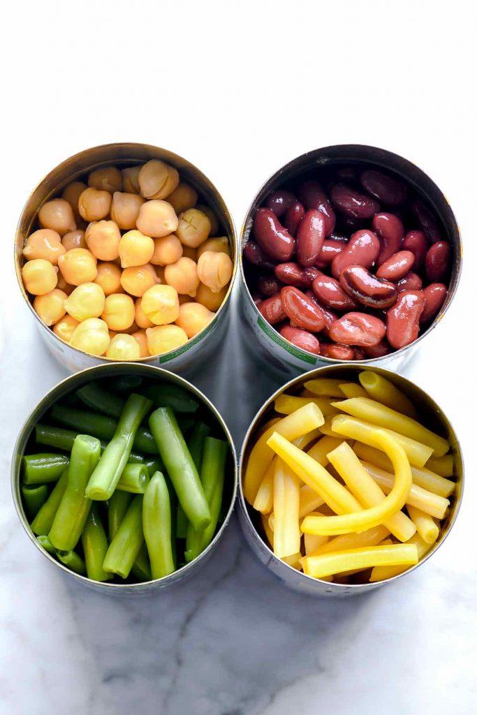 Three Bean Salad Recipe | foodiecrush.com #recipes #salad #bean #easy #classic #best