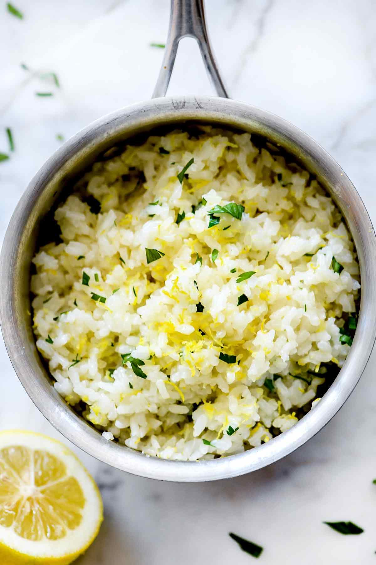 Easy Lemon Rice Recipe - foodiecrush
