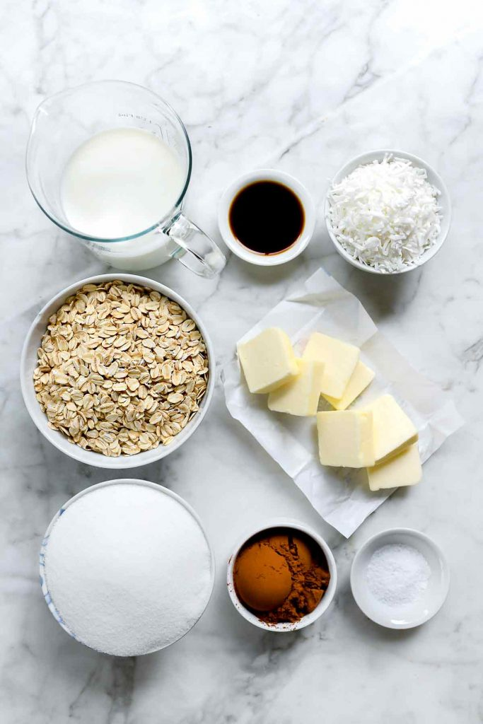 no-bake cookies ingredients