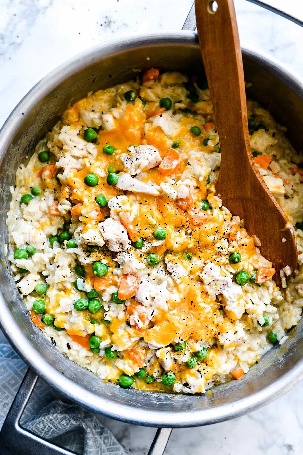 Creamy Chicken And Rice Casserole One Pot Recipe Foodiecrush Com