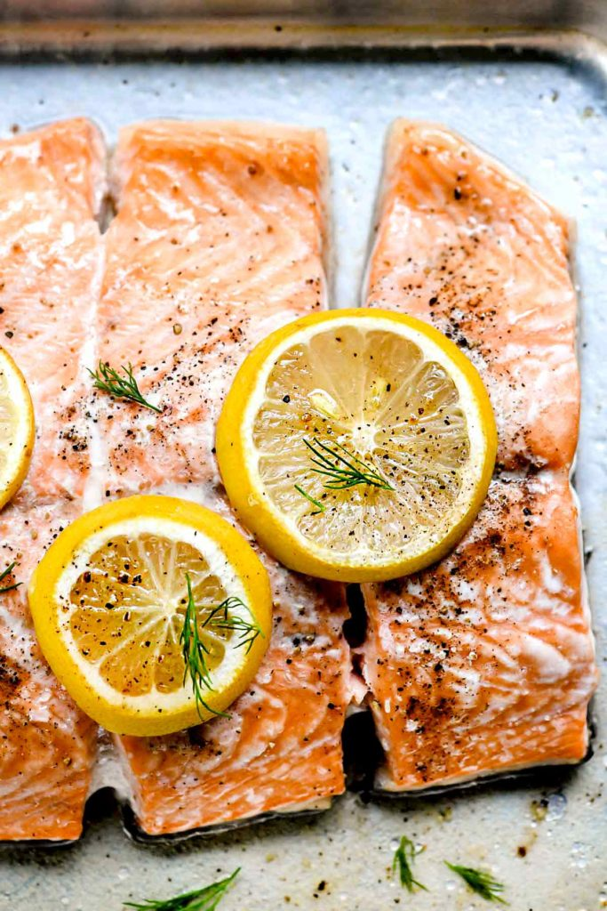 Oven Baked Salmon Recipes with Creme Fraiche | foodiecrush.com #recipes #salmon #healthy #baked #easy #dinner