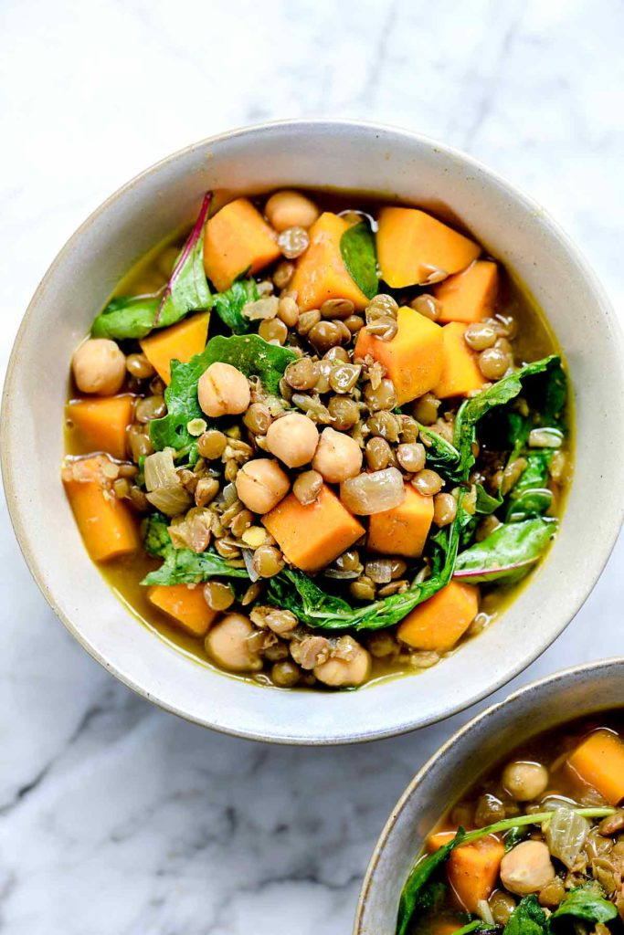 Curry Lentil Soup with Butternut Squash and Greens | foodiecrush.com #lentil #soup #curry #recipes #stew #healthy #easy