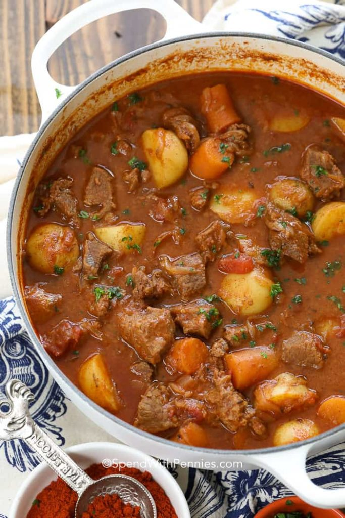 Hungarian Goulash from Spend With Pennies on foodiecrush.com
