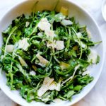 Arugula Salad with Parmesan | foodiecrush.com #salad #recipes #
