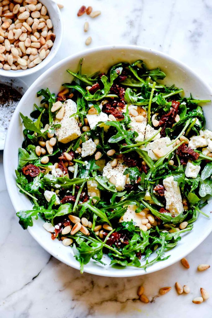 Arugula Salad with Lemon | foodiecrush.com #salad #recipes #arugula