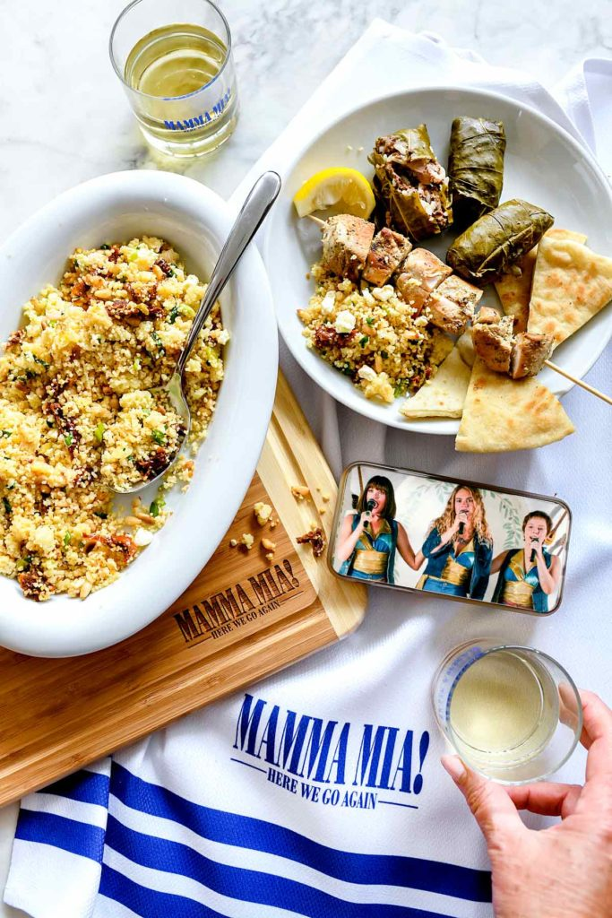 Easy Couscous with Sun-Dried Tomato and Feta   foodiecrush.com #couscous #recipes #easy #healthy #sidedish