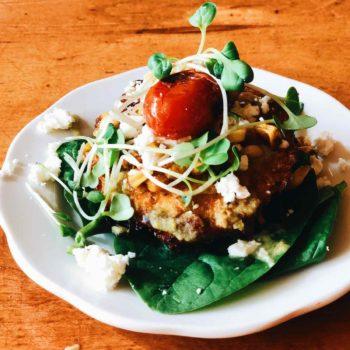 Moosewood Restaurant Zucchini Latke | foodiecrush.com
