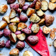 Best Crispy Oven Roasted Potatoes | foodiecrush.com #potatoes #oven #roasted #easy