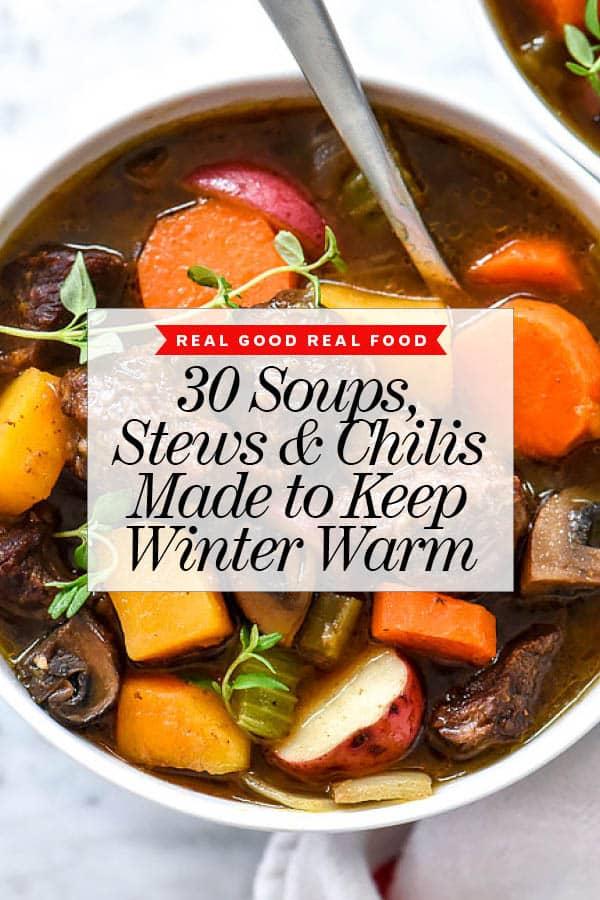 30 soupes Ragoûts et piments foodiecrush.com #soup #chili #ragoût #recettes #sain #facile