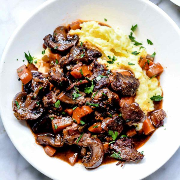 Beef Bourguignon | foodiecrush.com #recipes #easy #beef #bourguignon #stew #french