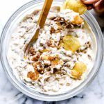 French Onion Dip | foodiecrush.com #easy #homemade #recipes #french #onion #dip #greekyogurt