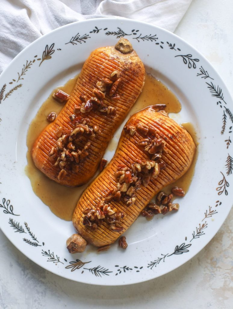 Hasselback Butternut Squash from How Sweet Eats on foodiecrush.com