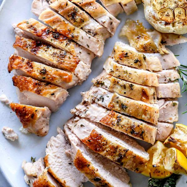 Juicy Roast Turkey Breast Recipe | foodiecrush.com #turkey #roasted #oven #breast #recipes