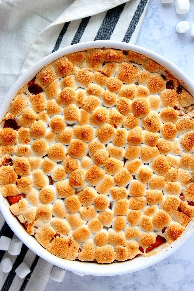 Classic Sweet Potato Casserole from Crunchy Creamy Sweet on foodiecrush.com