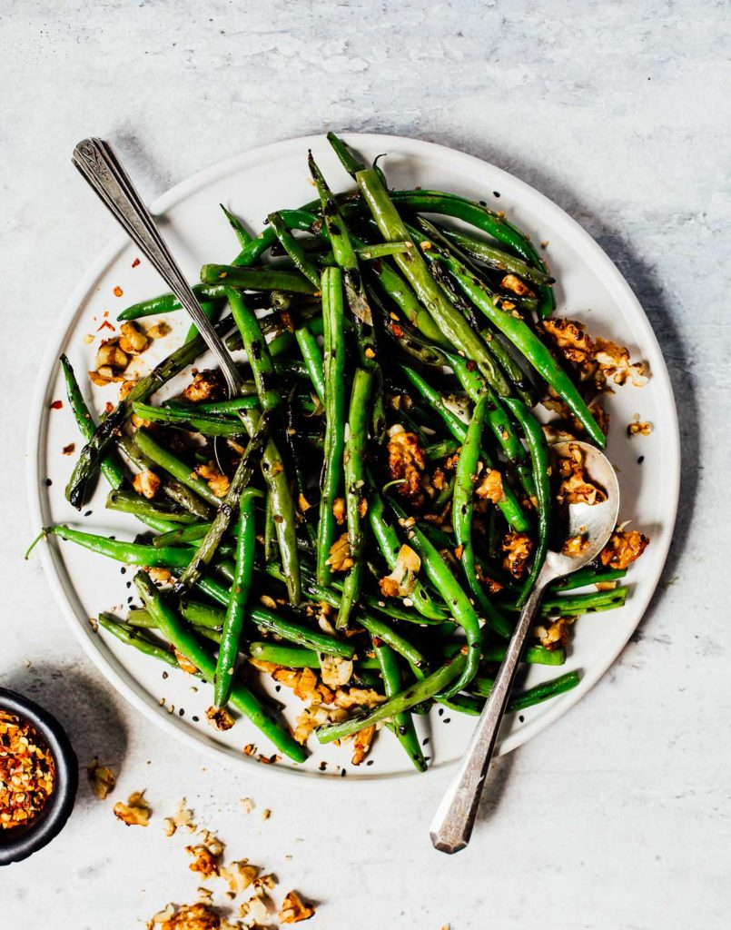 Spicy Green Beans from Heartbeet Kitchen on foodiecrush.com