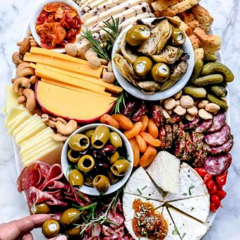 How to Make an Instagram-Worthy Charcuterie Board | foodiecrush.com #charcuterie #cheese #board #recipes #DIY #platter #fromage