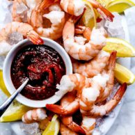 Shrimp Cocktail Recipe | foodiecrush #easy #appetizers #sauce #presentation