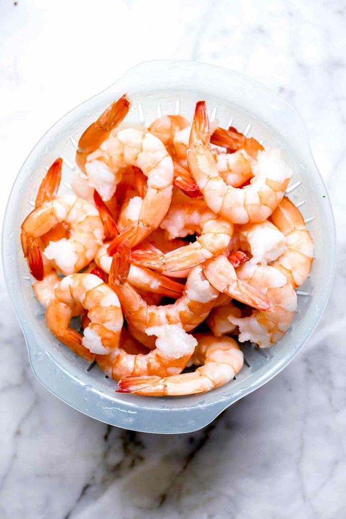 Frozen shrimp thawed | foodiecrush.com