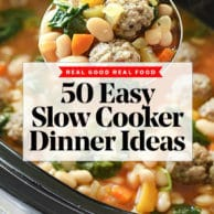 50 Easy Slow Cooker Dinners | foodiecrush.com #crockpot #slowcooker #chicken #healthy #recipes #dinner