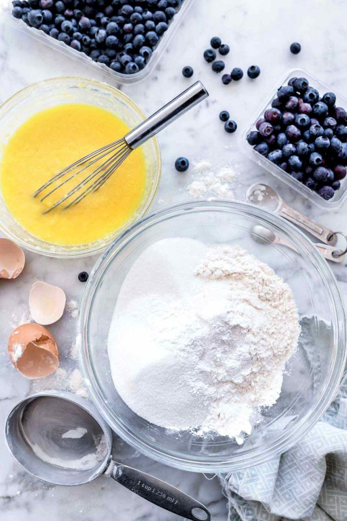 homemade blueberry muffins ingredients