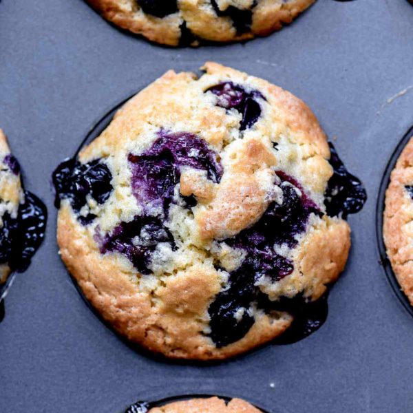Blueberry Muffins | foodiecrush.com #muffins #easy #healthy #best #blueberry #breakfast #recipes