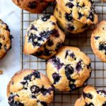Blueberry Muffins   foodiecrush.com #muffins #easy #healthy #best #blueberry #breakfast #recipes