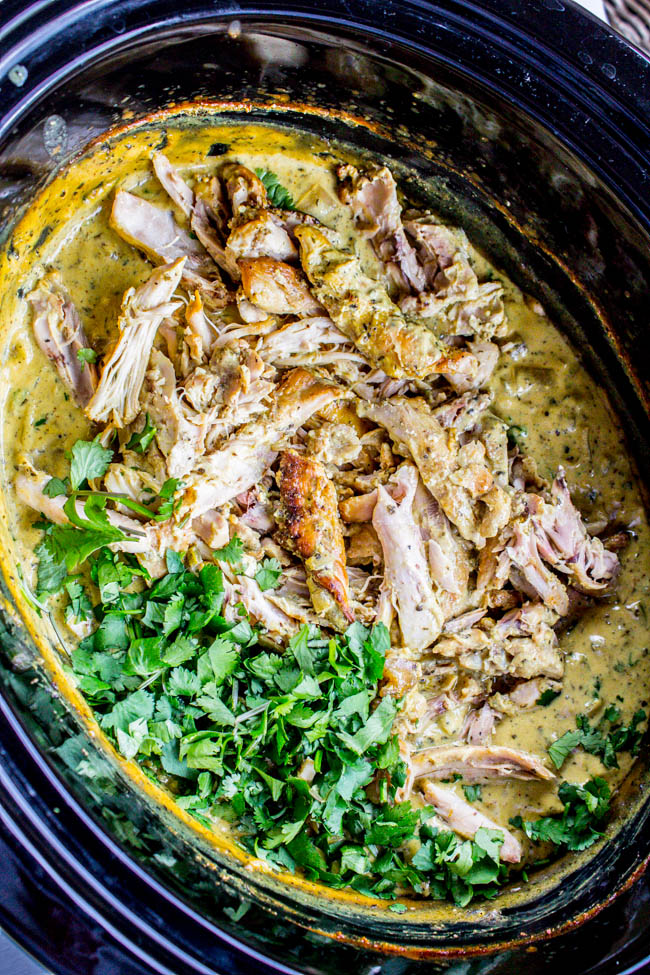 Slow Cooker Basil Chicken in Coconut Curry Sauce from The Food Charlatan on foodiecrush.com