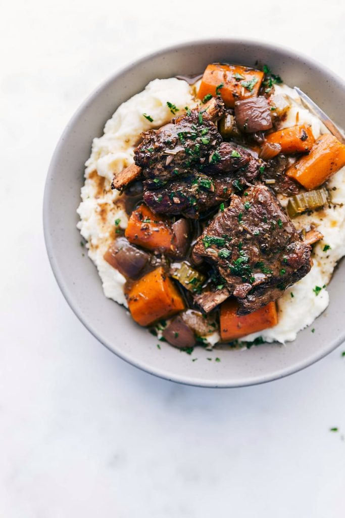 Slow Cooker Short Ribs from Chelsea's Messy Apron on foodiecrush.com