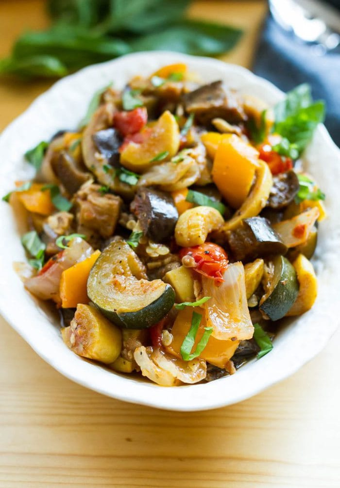 Slow Cooker Ratatouille from Eating Bird Food on foodiecrush.com