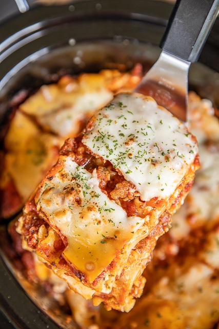 Slow Cooker Lasagna from Plain Chicken on foodiecrush.com
