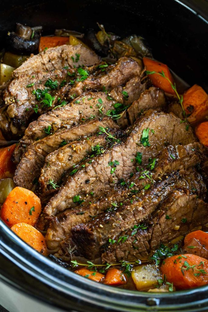 Slow Cooker Pot Roast from Jessica Gavin on foodiecrush.com
