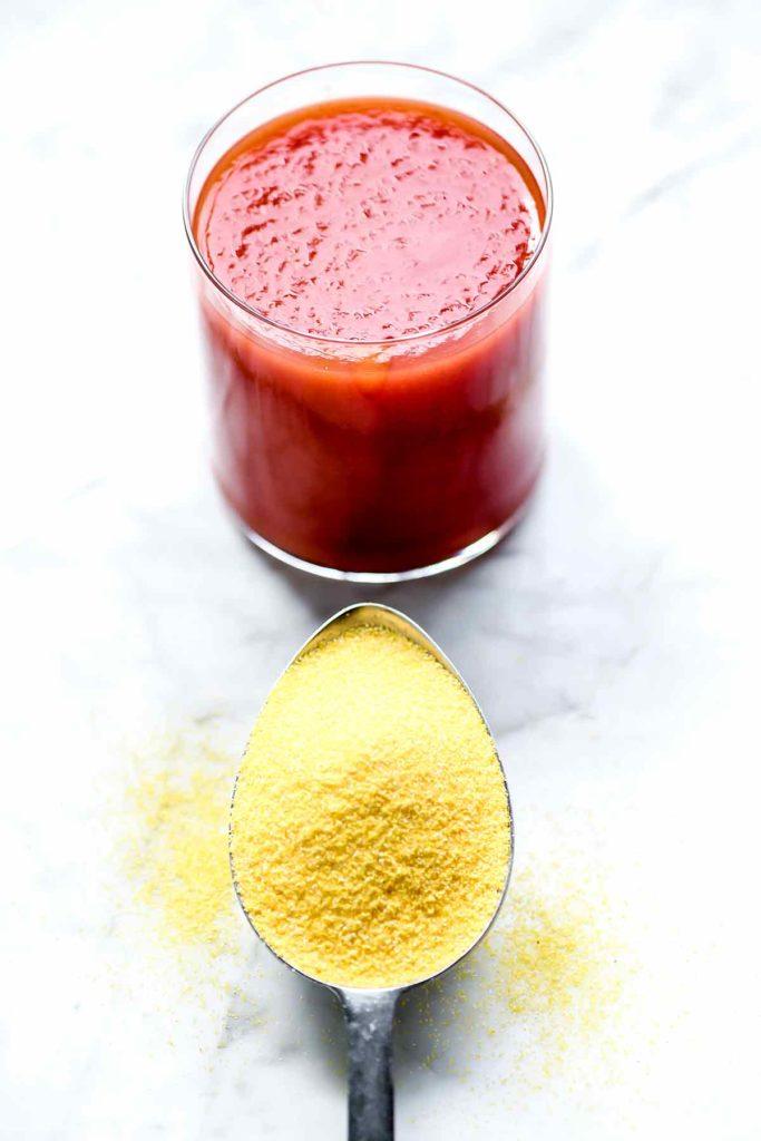 Tomato Juice and Cornmeal | foodiecrush.com